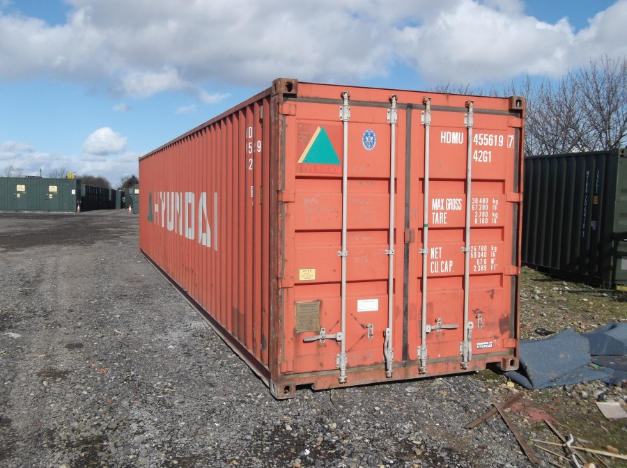 Used - 40ft Shipping Container & Used - 40ft Storage Container for Sale - From Only £1525 Delivered